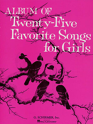 Album of 25 Favorite Songs for Girls Vocal Piano Classical Sheet Music Book NEW