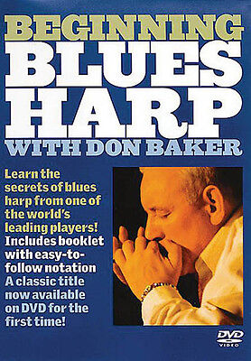Beginning Blues Harp Learn How to Play Harmonica Music Lesson Video DVD NEW
