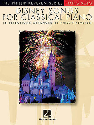 Disney Songs for Classical Piano Solo Sheet Music Hal Leonard Book NEW