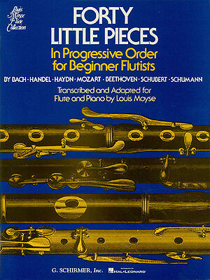 Forty Little Pieces Flute & Piano Sheet Music 38 Classical Songs Book NEW