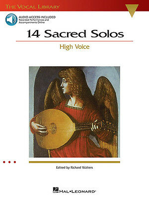 14 Sacred Solos High Voice Classical Vocal Sheet Music Book & Online Audio NEW
