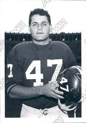 1969 Harvard Crimson Football Player Paul Saba Press Photo