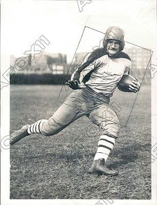 1935 Columbia Lions Football Player Al Barabas Press Photo