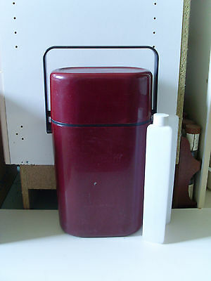 1980s INSULATED DECOR BYO DRINKS CARRIER * MAROON *
