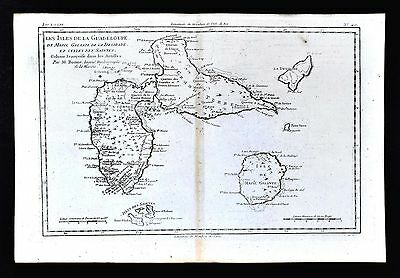 1779 Bonne Map - Isle de Guadeloupe Maria Galante West Indies Caribbean Islands