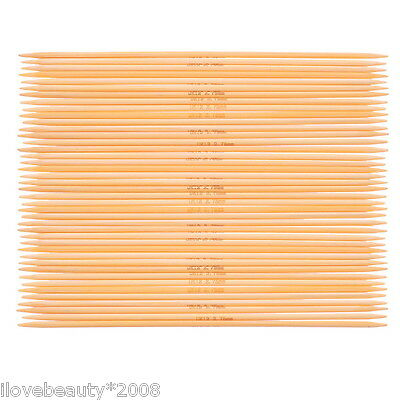 5PCs Bamboo Double Pointed Needles Natural UK12 2.75mm 15cm Long