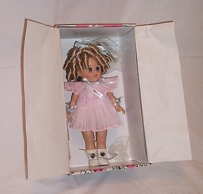 Ginny Miss 1930s blonde doll 1999 signed original box sash Shirley Temple curls