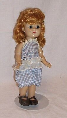 Ginny doll 1957 bent knee walker Vogue redhead with stand