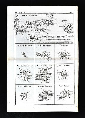 1779 Bonne Map - Virgin Islands Antigua Tobago Barbados Dominique - West Indies