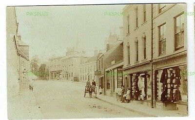 Old Shop Front Postcard Warminster High Street Wiltshire Real Photo Used 1905