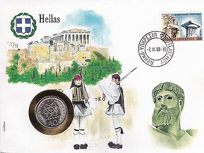 Coin Cover  GRIECHENLAND  GREECE HELLAS   Münzbrief Numisbrief
