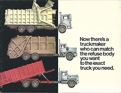 Truck Brochure - White Big 4 Group Refuse Garbage Chassis Options c1974 (T1750)