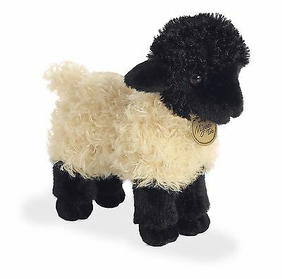 AURORA MIYONI Stuffed Plush Toy SUFFOLK LAMB Soft Farm Animal BLACK CREAM SHEEP