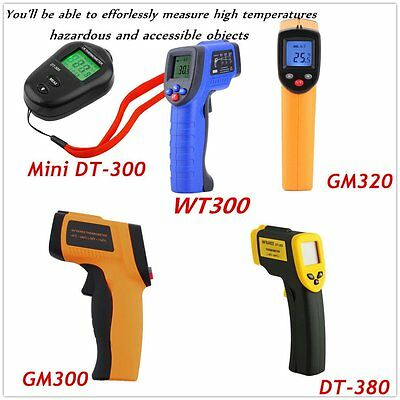 8 Type Non-Contact LCD IR Laser Infrared Digital Temperature Thermometer Gun Lo