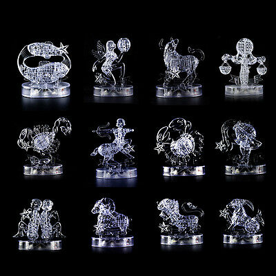 3D Crystal Jigsaws Puzzles 12 Zodiac Signs Module DIY Toy Gifts Furnish Artwork