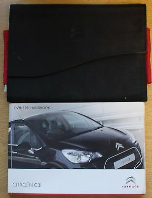 Citroen C3 Handbook Wallet Manual 2009-2013 Pack 12467