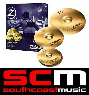 "Zildjian PLZ4PK Planet Z Cymbal Box Set 14"" Hi Hats 16"" Crash 20"" Ride Cymbals"