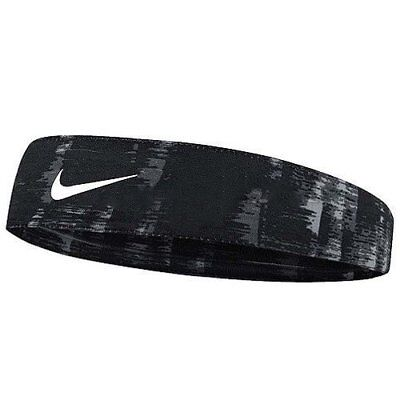 NIKE Tapered Fury Headband With Swoosh Logo , Black