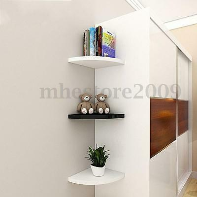 2PCS Acrylic Corner Safety Shelves For Bags Books Potted Plants Computer Speaker
