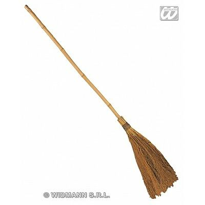 Old Witch Broom Novelty Prop for Halloween Fancy Dress Accessory