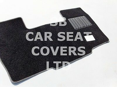 Ford Transit SWB Van Seat Covers Black Red Piping Foam Cloth