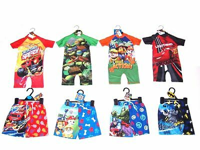 Boys Character Childrens Kids Swimming shorts Surf Swimsuit Wetsuit Ages 18m -10