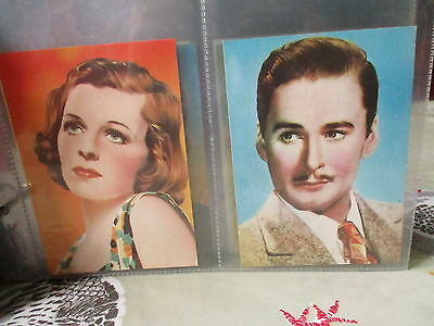 Shermans Pools**famous Film Stars**set Of 8 Large Thin Cards