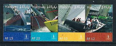 Maldive Is 2008 Americas Cup 4v strip SG 4162/5 MNH