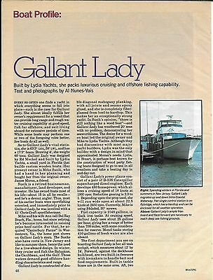 """1977 Lydia Yachts 63' """"Gallant Lady"""" Review & Nice Photos"""