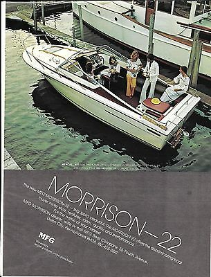 1977 MFG Boat Company Color Ad- Nice Photo of Morrison-22- Hot Girls