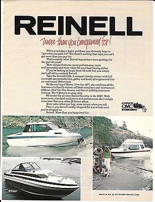 1977 Reinell Boats Color Ad- Nice Photos of 3 Models