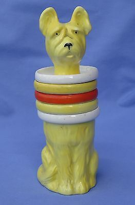 1930 Art Deco Skye Silky Terrier Briard Smoke Set Goebel Germany 7""