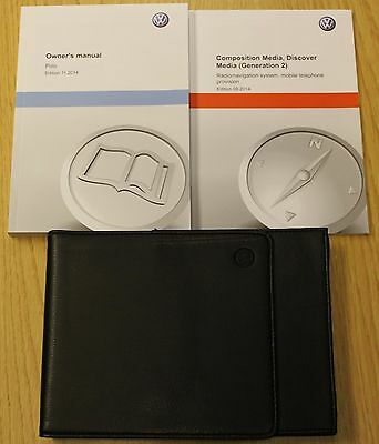 Vw Polo Mk5 Handbook Owners Manual Wallet Discover Media (2) 2014-2016 Pack