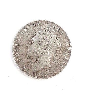 1826 George IV Silver 6d Sixpence Coin