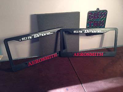 Aerosmith Plastic Car Automobile Truck Van License Plate Frames One Pair