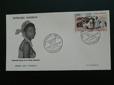 woman in society scial evolution FDC Gabon 50160