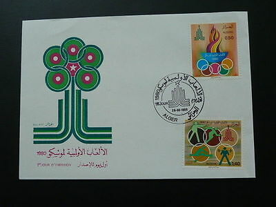 olympic games Moscow 1980 FDC Algeria 60603
