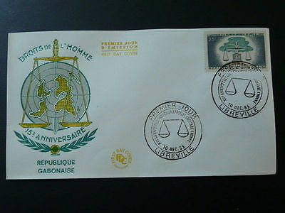 Universal Declaration of Human Rights FDC Gabon 1963