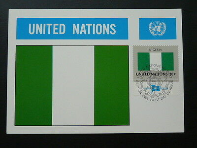 national flag of Nigeria maximum card United Nations UNO 70222