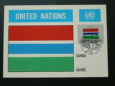 national flag of Gambia maximum card United Nations UNO 70239