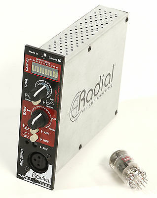 Radial PowerTube 1-channel Tube Microphone Preamplifier for 500 Series