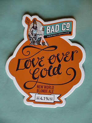 Bad Co Brewery Love Over Gold (Dire Straits Album) pump clip front