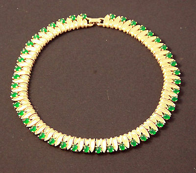 Gold/green Toned Boucher Necklace..