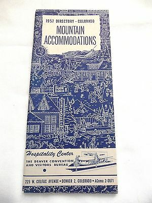 1957 Directory Colorado Mountain Accomodations Hotel Motel Reference