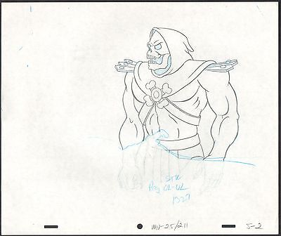 HE-MAN Skeletor Masters of the Universe Animation Cel drawing Filmation 2*