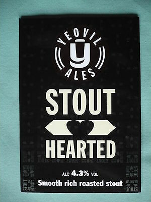 Yeovil Brewery Stout Hearted pump clip front