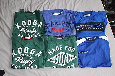 Big Bundle Collection KOOGA Made For Rugby Leisure T Shirt x 6 Tops Brand New
