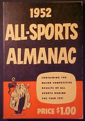 1952 All-Sports Almanac! Frank Clement- Nice!