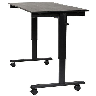 Luxor STANDCF60-BK/BO 60-Inch Steel Mobile Crank Adjustable Stand Up Desk