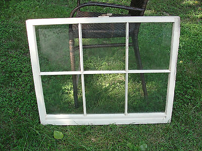 Shabby Chic Wood Window Sash 6 Glass Pane Wooden Picture Frame Pinterest Vintage